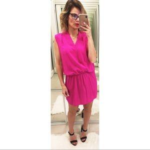 Amanda Uprichard Hot Pink Silk Mini Dress